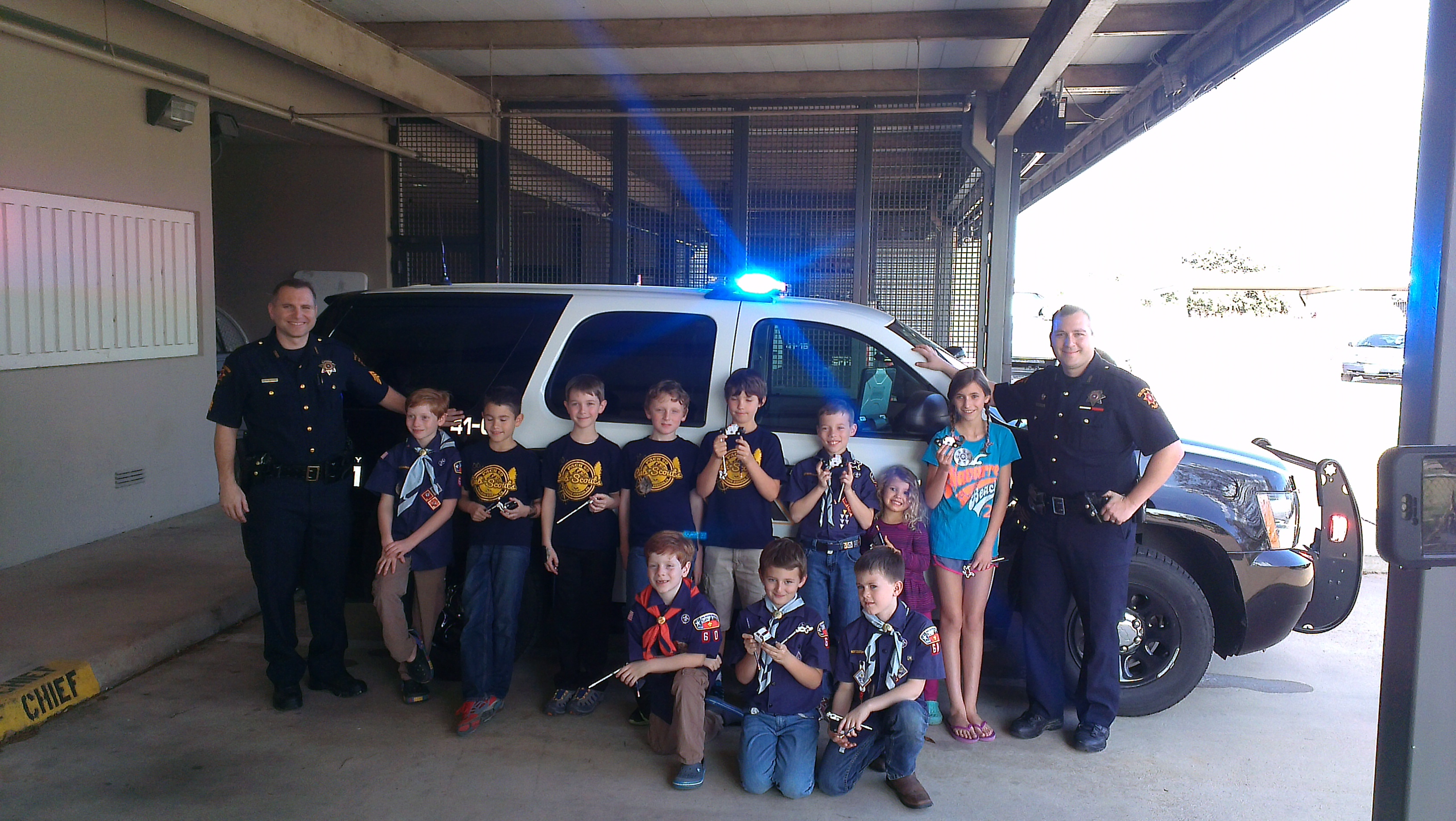 Cub scout pack 60 2015 february for Police tours
